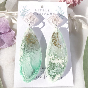 Golden Jade Geode Dangles - Little Hurricane Co