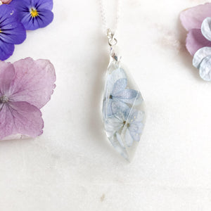 Hydrangea Petals Shard Necklace - Little Hurricane Co
