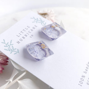 Lavender Gem Studs - Little Hurricane Co