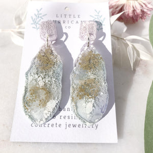 Lavender Golden Geode Dangles small - Little Hurricane Co