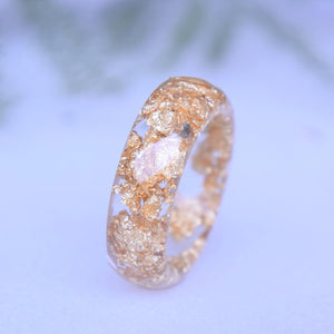 Minimalist Faceted Ring - Gold Leaf - Little Hurricane Co