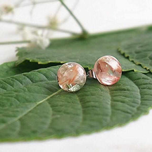 Sphere Studs - Strawberry Fields Flower - Little Hurricane Co