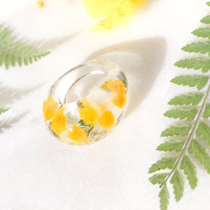 Statement Wattle Faceted Ring - Little Hurricane Co