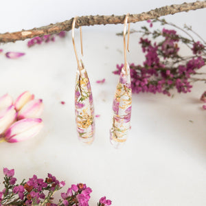 Teardrop Dangles - Heath flowers - Little Hurricane Co