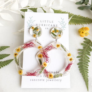 Wattle Dangle & Gum Hoops - Little Hurricane Co