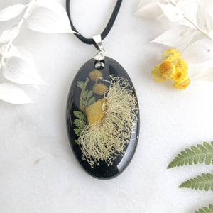 White Gum Blossom and Wattle Necklace - Little Hurricane Co