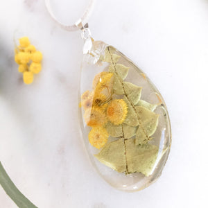 Yellow Buttons & Banksia Leaf - Little Hurricane Co