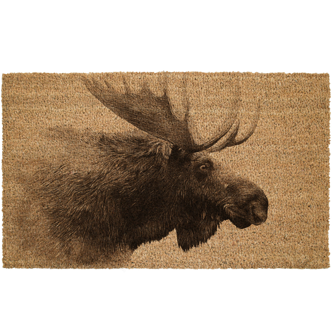 Moose Profile Cabin Coir Doormat