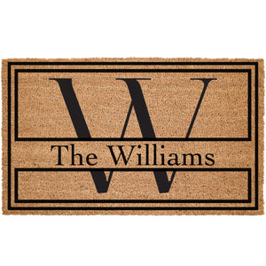 Custom Monogram Coir Doormat