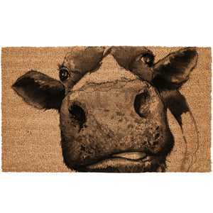 Cow Head Coir Doormat