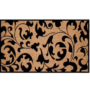 Scroll Leaf Pattern Coir Doormat