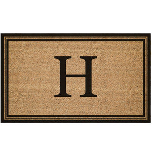 Custom Monogram With Border Coir Doormat