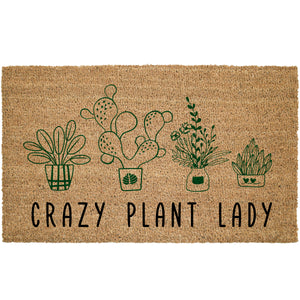 Crazy Plant Lady Coir Doormat