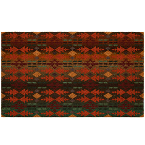 Native American Pattern Coir Doormat