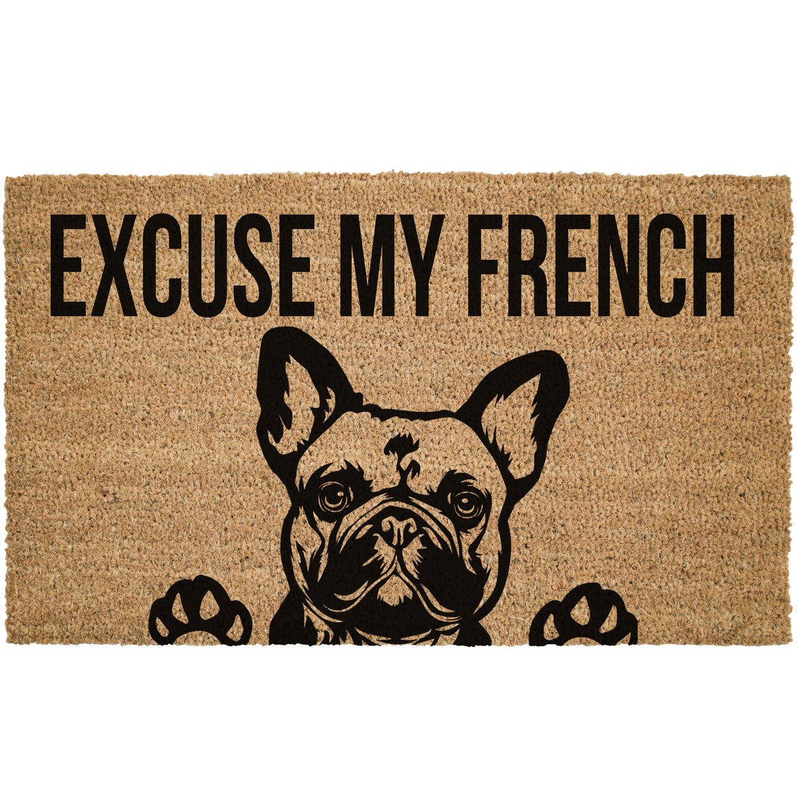 Excuse My French Coir Doormat