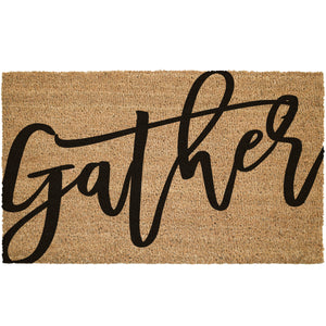 Gather Large Cursive Font Coir Doormat