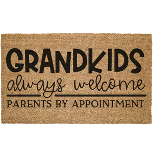 Grandkids Always Welcome Coir Doormat