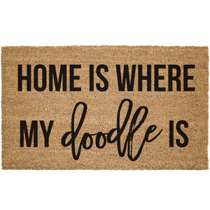 Home Is Where My Doodle Is Coir Doormat