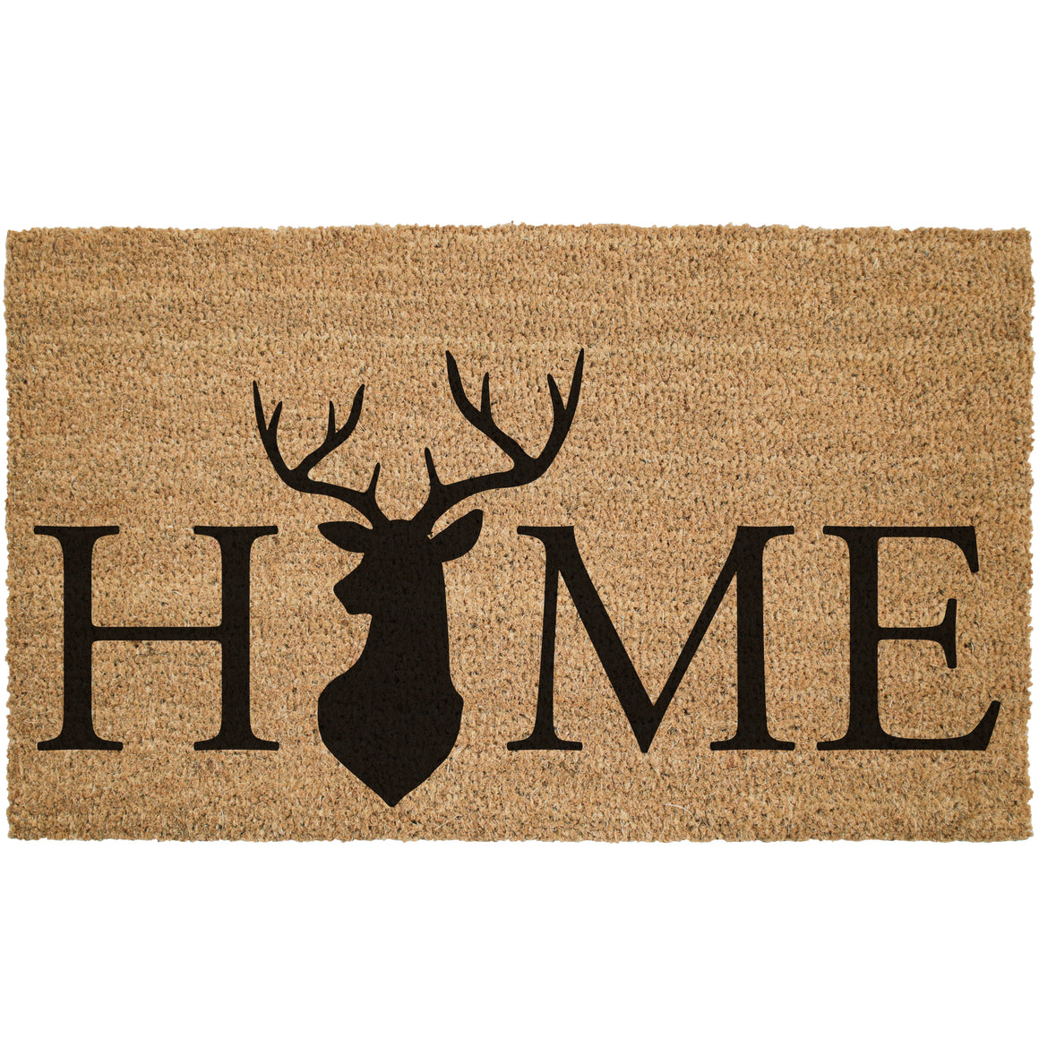 Home Deer Head Cabin Coir Doormat