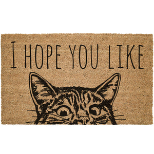 I Hope You Like Cats Coir Doormat