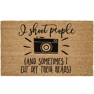 photographer welcome door mat