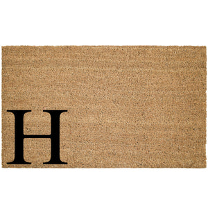 Last Name Large Initial Coir Doormat