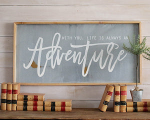 Wood and Metal Wall Sign Decor