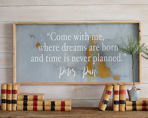peter pan wall sign art
