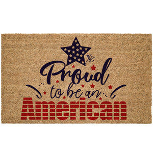 Proud To Be An American Coir Doormat