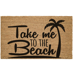 Take Me To The Beach Coir Doormat