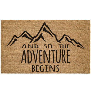 So The Adventure Begins Coir Doormat