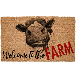Welcome To The Farm Coir Doormat