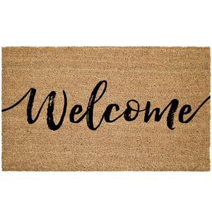 Welcome Cursive Coir Doormat