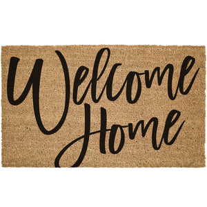 Welcome Home Large Cursive Font Coir Doormat