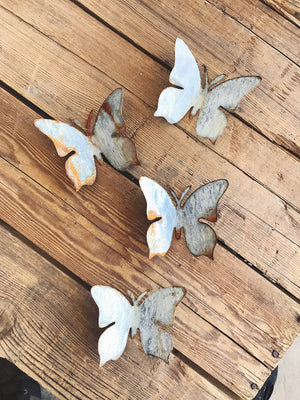 Hand Patinaed Metal Butterfly (6 Pack)