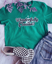 "Load image into Gallery viewer, ""Wonderfully Created1"" Graffiti  Unisex Short sleeve t-shirt"