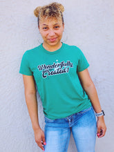 "Load image into Gallery viewer, ""Wonderfully Created1"" Graphti Women's Relaxed T-Shirt"