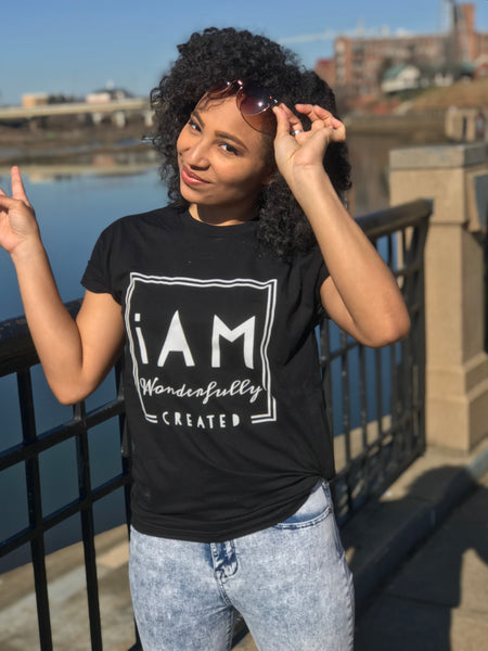 """iAm Wonderfully Created"" Short-Sleeve Unisex T-Shirt"