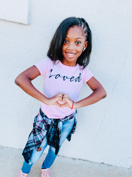 """I Am Loved""  - Youth Short Sleeve T-Shirt"