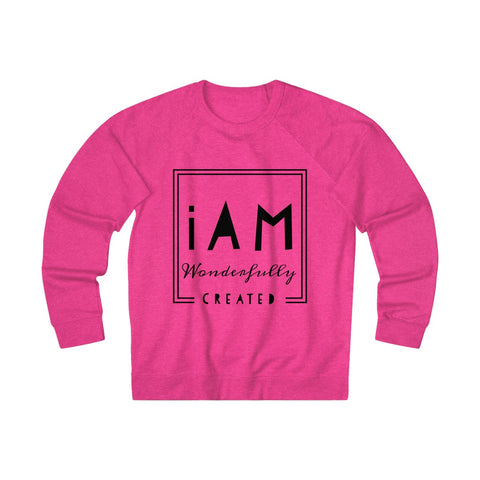 """iAm Wonderfully Created"" Unisex French Terry Crew"
