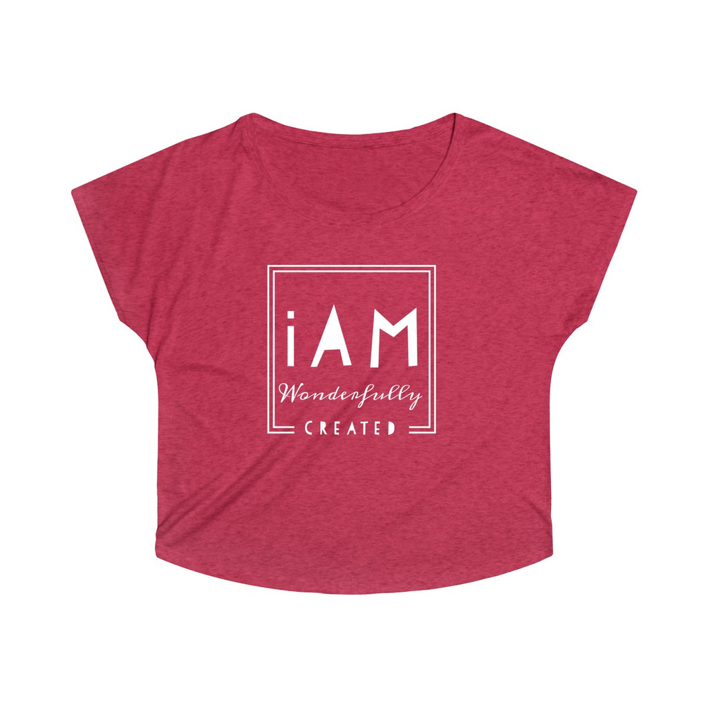 """iAm Wonderfully CReated"" - Women's Tri-Blend Dolman"