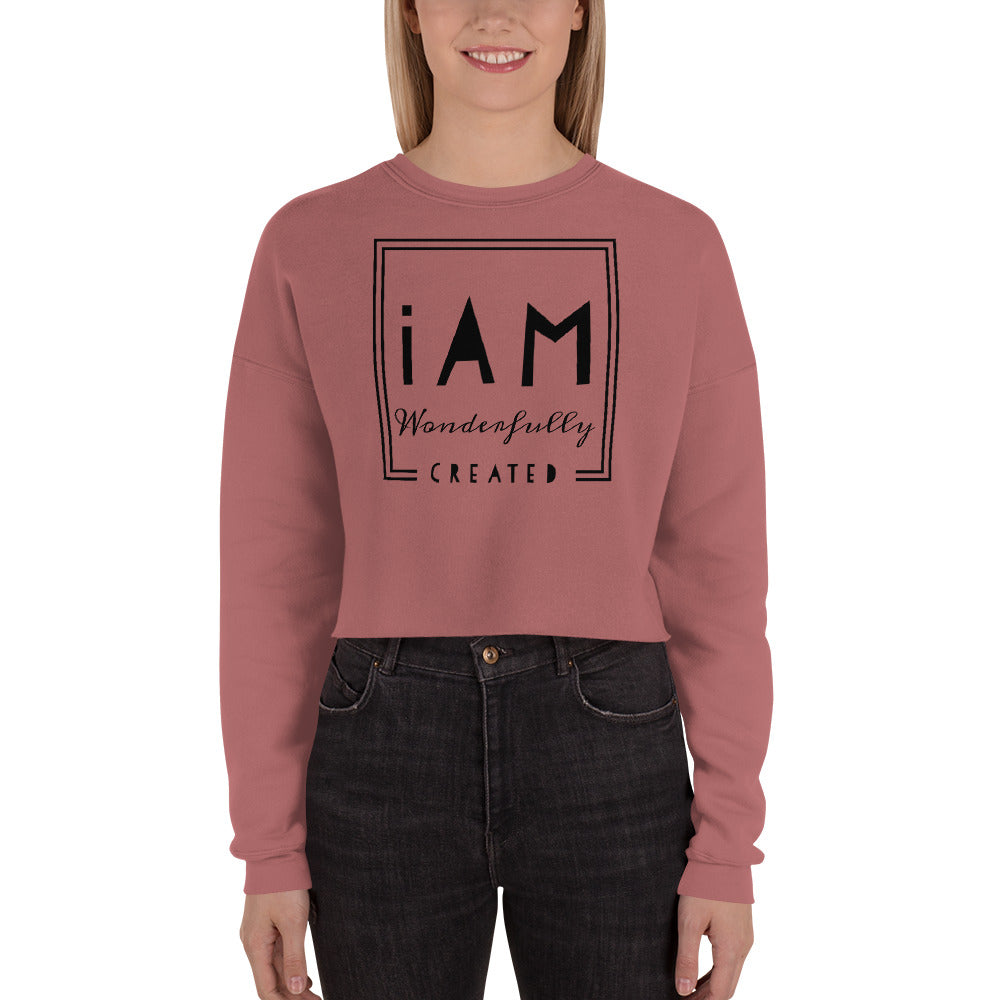 """iAm Wonderfully Created"" Crop Sweatshirt"
