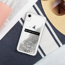 Load image into Gallery viewer, Custom Wonderfully Created Liquid Glitter Phone Case