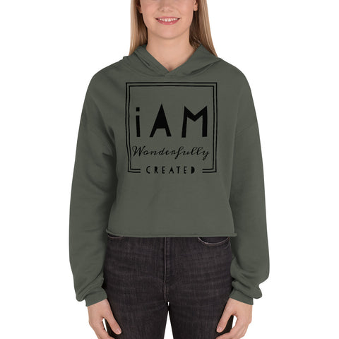 """iAm Wonderfully Created"" Crop Hoodie"