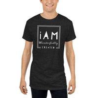 """iAm Wonderfully Created"" Long Body Urban Tee"