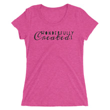 Load image into Gallery viewer, Wonderfully Created1 Logo T- Ladies' short sleeve t-shirt
