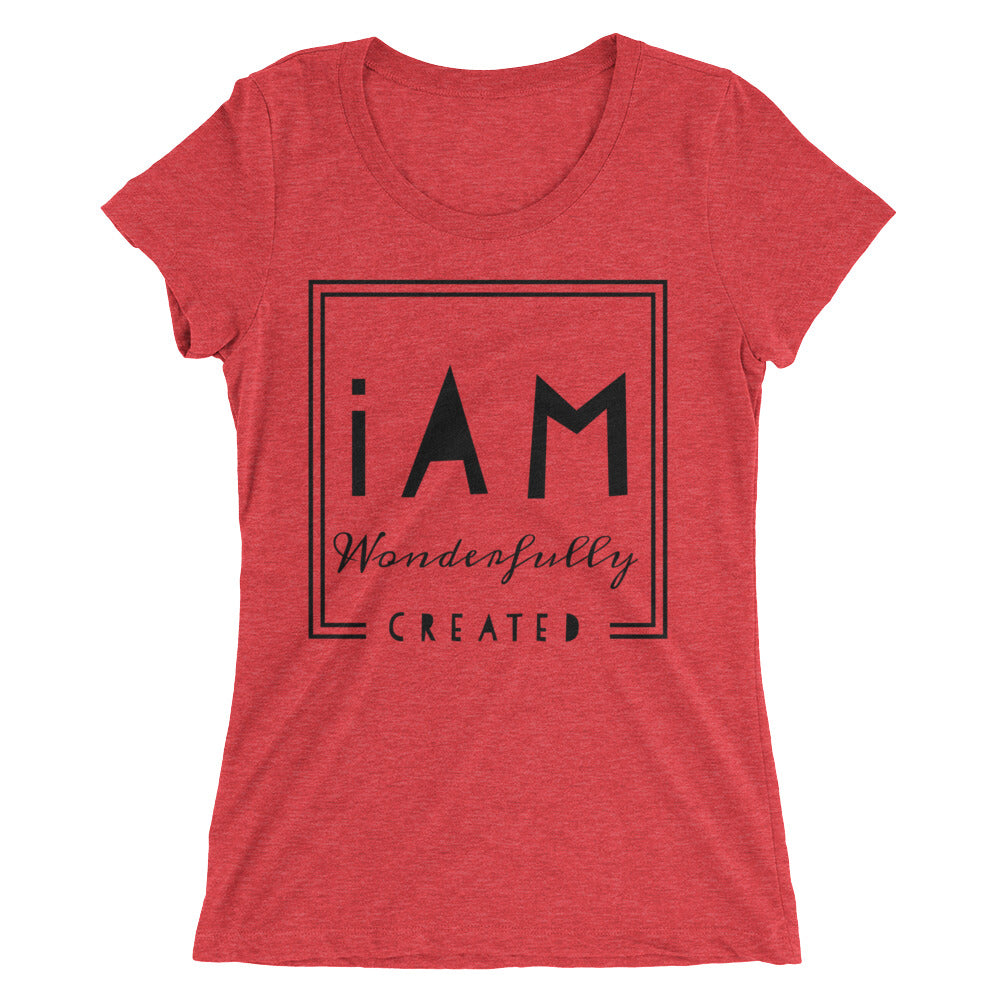 iAm Wonderfully Created- Juniors* short sleeve t-shirt