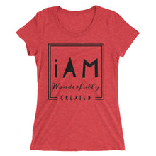 Load image into Gallery viewer, iAm Wonderfully Created- Juniors* short sleeve t-shirt