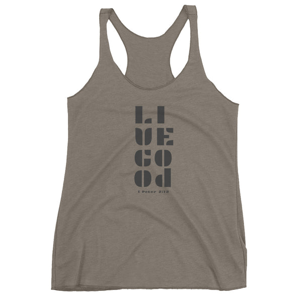"""Live Good"" - Women's Racerback Tank"