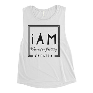 iAm Wonderfully Created - Ladies' Muscle Tank